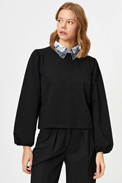 Koton Kadın Siyah Sweatshirt 0YAF10043FK