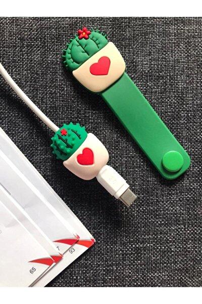 Telehome Sevimli Kablo Toparlayıcı Ve Koruyucu Kaktüs 2'li Set