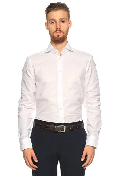 Hackett Erkek Beyaz Düz Gömlek
