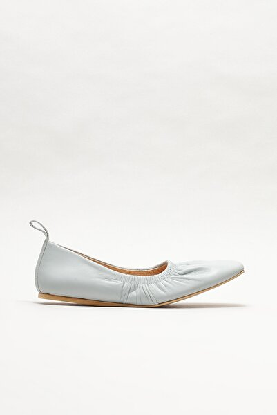 Elle Shoes Kadın Mavi Deri Babet