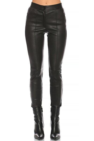 Barbara Bui Siyah Deri Pantolon