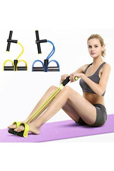 Bodydrom Egzersiz Aleti El Ayak Direnç Yayı Lastiği Spor Fitness Vücut Karın Kondisyon Lastik