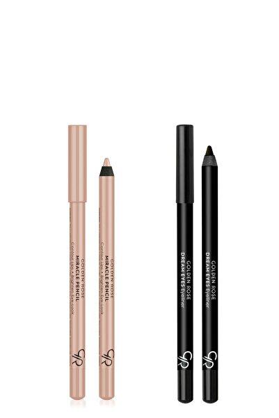 Golden Rose Göz & Dudak Aydınlatıcı Kalem Ve Siyah Göz Kalemi - Makyaj Seti 9