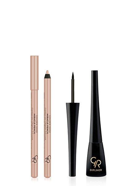Golden Rose Göz & Dudak Aydınlatıcı Kalem Ve Suya Dayanıklı Dipliner - Makyaj Seti 10