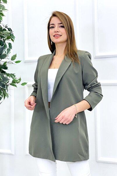Zoom Kadın Haki Astarlı Ceket