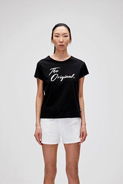 Bad Bear Kadın Siyah The Orıgınal Tee Baskılı T-Shirt