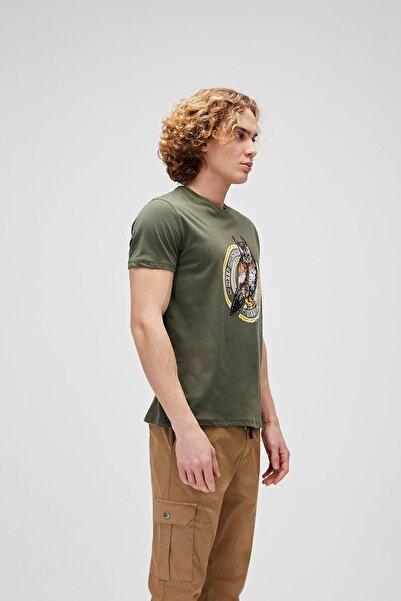 Bad Bear Erkek Haki Rising Tee Baskılı Tshirt 21.01.07.044-c70