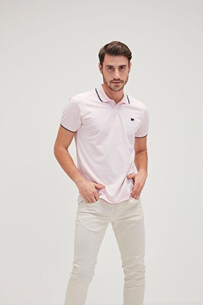 Bad Bear LINE PIQUE POLO ROSE