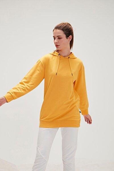 Bad Bear Kadın Mustard Mono Color Hoodıe  Sweatshirt