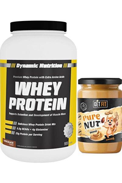 Dynamic Nutrition Dynamic Whey Protein Tozu 900 gr + Şekersiz Getfit Purenut Doğal Fıstık Ezmesi  600 gr