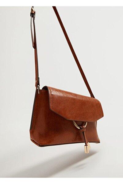 MANGO Woman Kapaklı Çapraz Çanta
