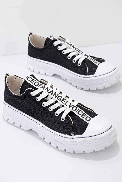Bambi Siyah Kadın Sneaker K01530110618