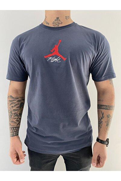 MAYBE-E Flight Antrasit T-shirt %100 Pamuk
