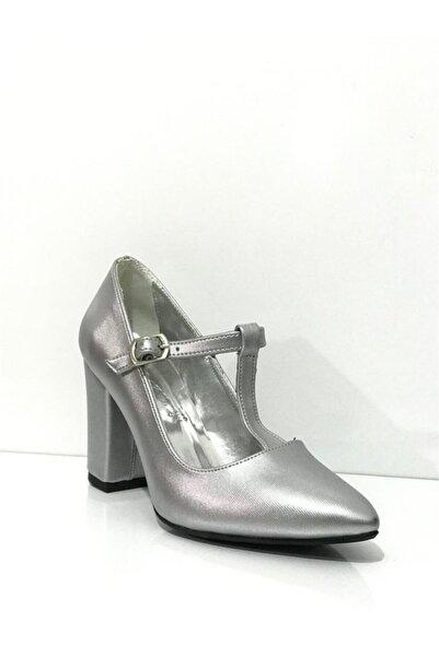 PUNTO Kadın Gümüş Topuklu Ayakkabı 363005