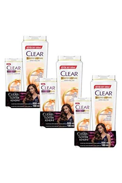 Clear Kadın Saç Dökülmesine Karşı Şampuan 600 Ml+180 Ml X 3 Adet