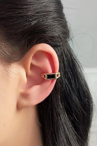 Çlk Accessories Kadın Tekli Örme Zincir Baget Taşlı Ear Cuff / Kıkırdak Küpe Trküpe3769 B32003