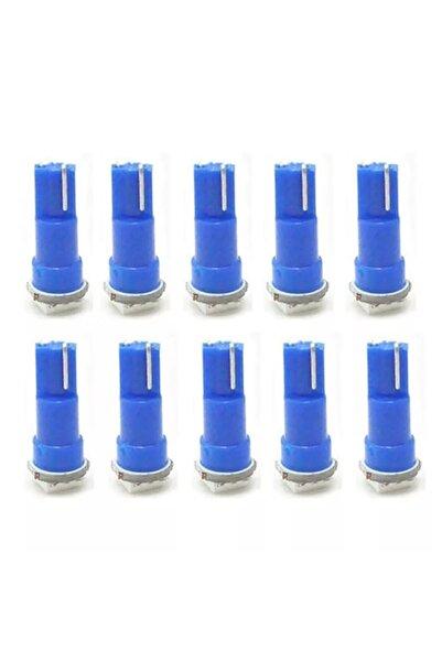 gürlerotoaksesuar T5 Led Ampul Gösterge Lambası Mini Dipsiz Mavi Renk 12v 10 Adet