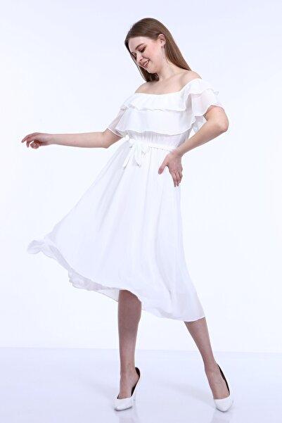 ADASTYLE Kadın Beyaz Elbise