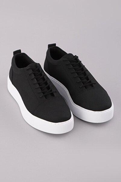 Arlin Erkek Bağcıklı Dikişli Hafif Konforlu Siyah Beyaz Spor Ayakkabı