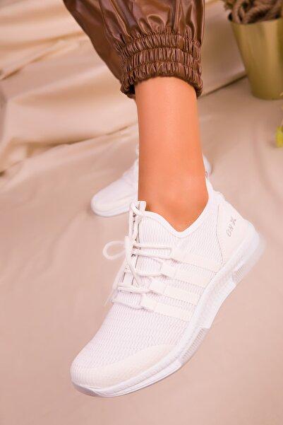 SOHO Beyaz Kadın Sneaker 16278