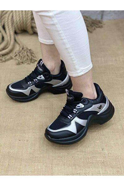 Twingo Kadın Spor Ayakkabı 601 - Siyah / Gümüş
