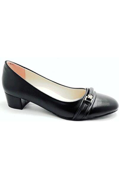 Alens Siyah Baskılı Rugan 41-42 Büyük Numara Ayakkabı