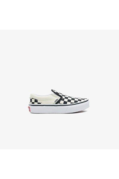 Vans Çocuk Siyah Classic Slip-on Checkerboard Sneaker