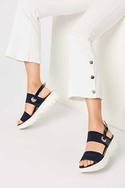 İnci Hakiki Deri Lacivert Kadın Sandalet 120120189031