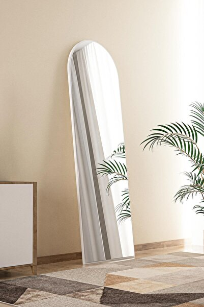 bluecape Beyaz Antre Koridor Konsol Duvar Salon Banyo Wc Ofis Çocuk Yatak Odası Boy Ayna 120x40 Cm