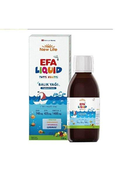 New Life Efa Liquid 150 Ml Tutti Frutti Balık Yağı Skt 02.2022