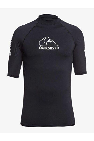 Quiksilver Erkek Siyah Lycra Yüzücü T-shirt