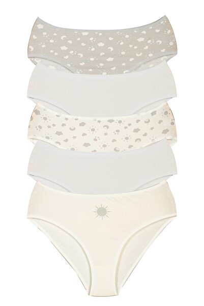 Alaturka Sensu Kadın Bato Külot Soft Karışık Renkler 5 li Paket Set