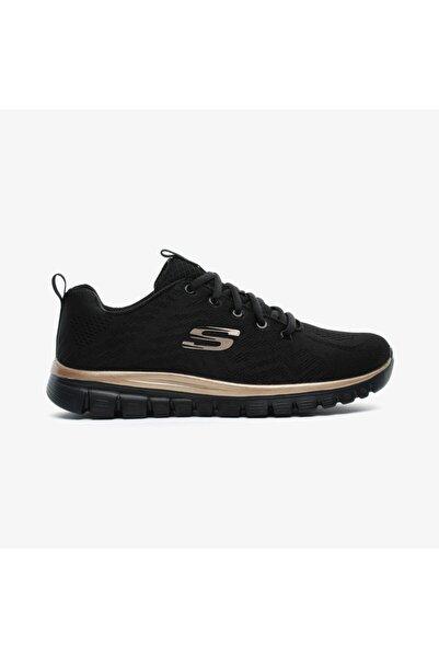SKECHERS Kadın Siyah Spor Sneaker