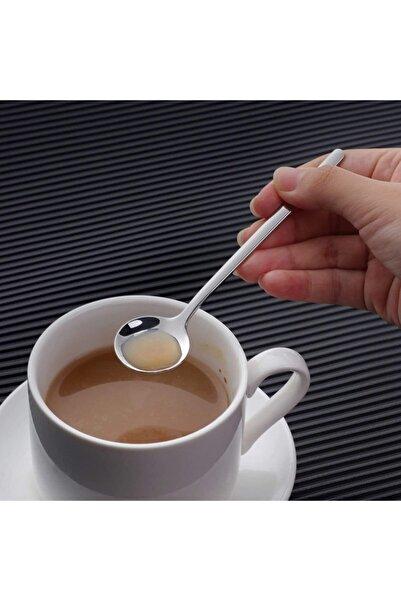 Trend Dünyam 6'lı Silver Çay Kaşığı Kahve Dondurma Tatlı Kek Şeker Kaşık Seti