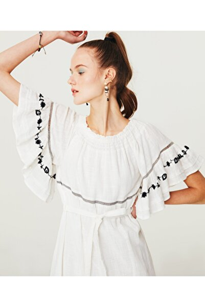 Twist Düşük Omuz Elbise