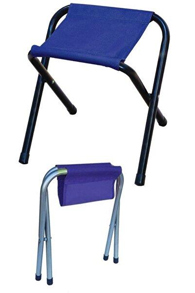 Leva House Levahouse Metal Tabure Sandalye Şezlong Piknik Mangal Balıkcı Doğa Katlanır Ayaklı Bez Tabure