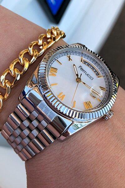 Ferrucci Kadın Çelik Kordon Gümüş Kadın Kol Saati ve Bileklik