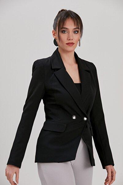 Y-London Kadın Siyah Blazer Ceket YL-CE99957