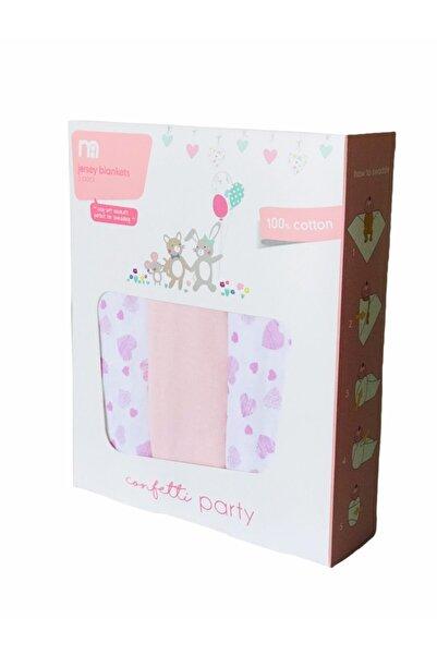 MOTHERCARE 3'lü Kundak Bebek Battaniye Seti Confetti Party Kalp Desen