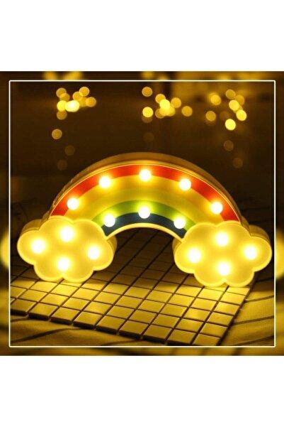 DRK EKSPRES Dekoratif Gökkuşağı Led Lamba Masa Duvar Gece Lambası Bebek Oda Lambası