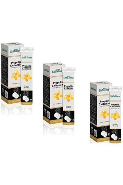 Shiffa Home Propolis & C Vitamini Efervesan 20 Tablet X 3 Adet