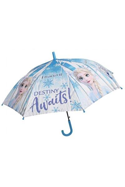 Frocx Kız Çocuk Mavi Frozen Elsa Destiny Awaits  Şemsiyesi - 44633