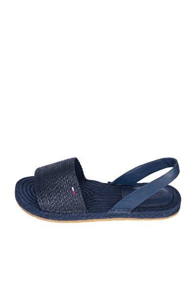 Tommy Hilfiger Kadın Lacivert Sandalet Monochrome Espadrılle Sandal EN0EN01383