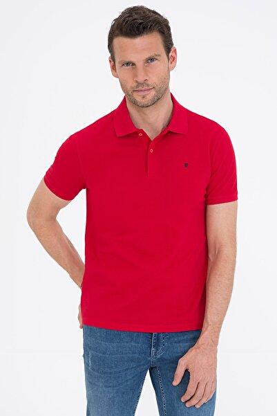 Pierre Cardin Koyu Kırmızı Slim Fit Basic Polo Yaka T-Shirt