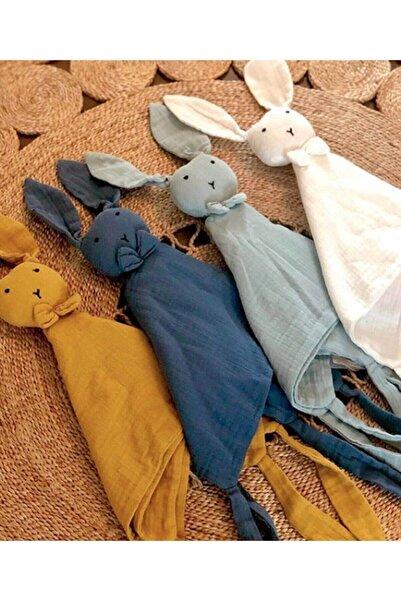 Cigit Lacivert Mavi Tavşan Müslin Uyku Arkadaşı  40x40 cm