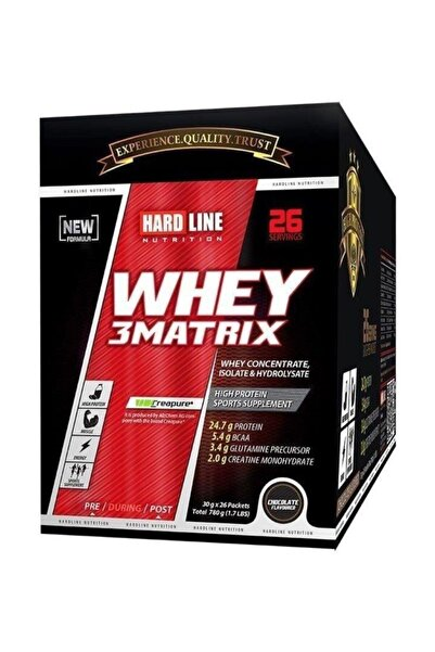 Hardline Whey 3 Matrıx Protein Tozu 780 gr 30*26 Chocolate