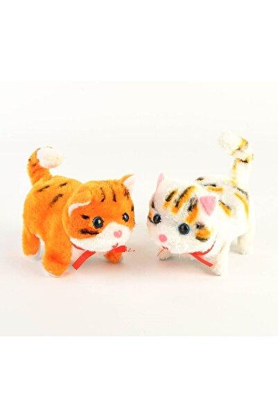 2A TOYS Unisex Çocuk Beyaz  Miyavlayan Sesli Yürüyen Oyuncak Peluş Kedi