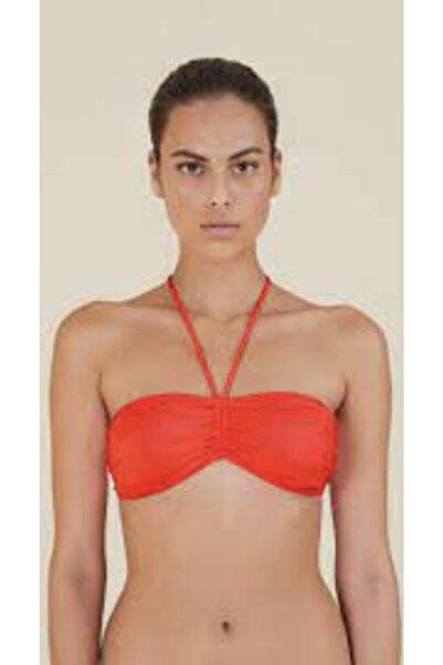 Kom Kırmızı Straplez Bikini Üstü