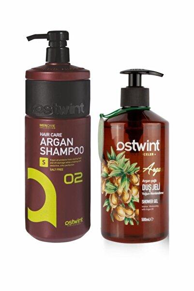 Ostwint Argan Şampuan 1000ml - Argan Yağlı Duş Jeli 500ml