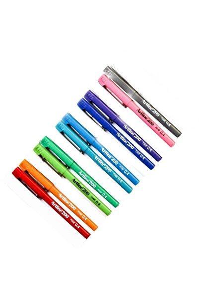 artline 200 Fineliner 0.4 Mm Ince Uçlu Yazı Ve Çizim Kalemi 10 Re